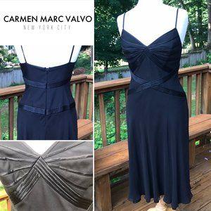 CARMEN MARC VALVO  Spaghetti strap dress piping -8